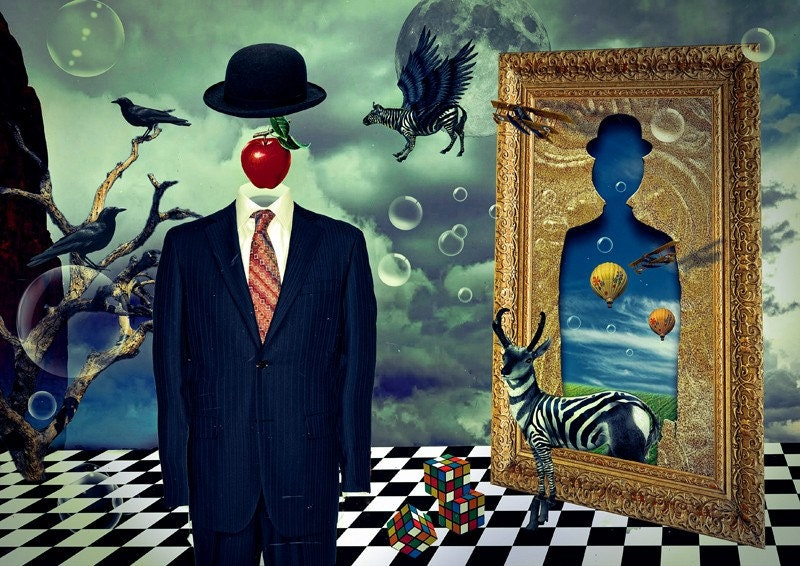 Print Steampunk Poster Canvas Surrealism Birthday Gift Art