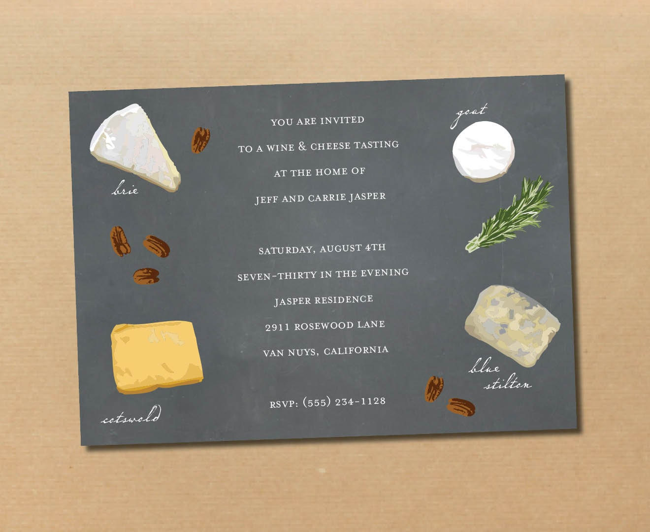wine & cheese // printable invitation