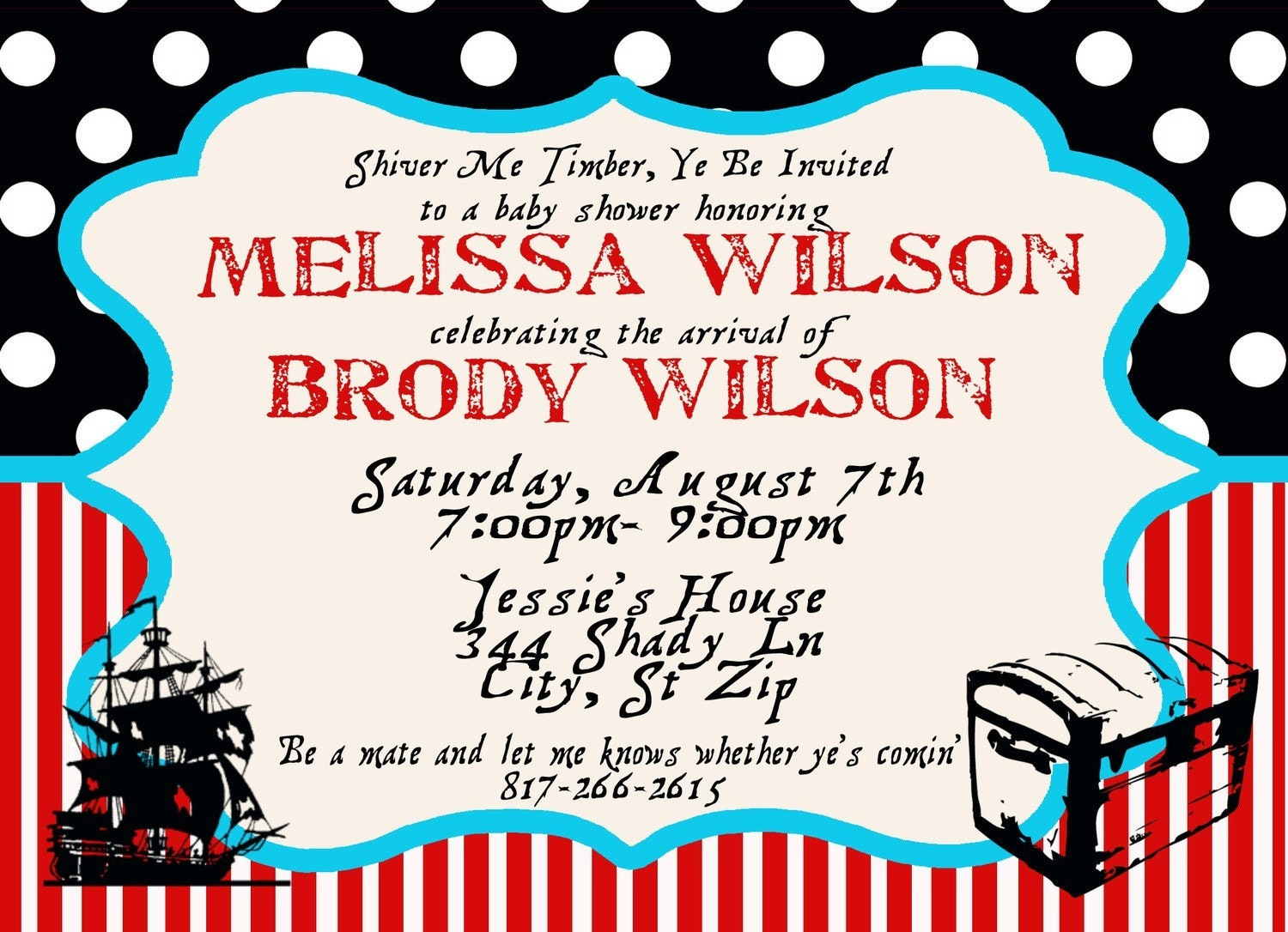 Pirate Baby Shower Invitations could be nice ideas for your invitation template