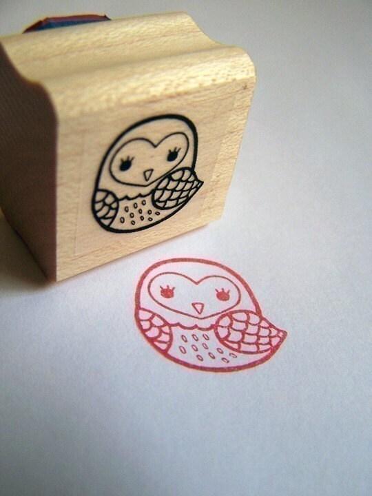 Handmade Owl Stamp