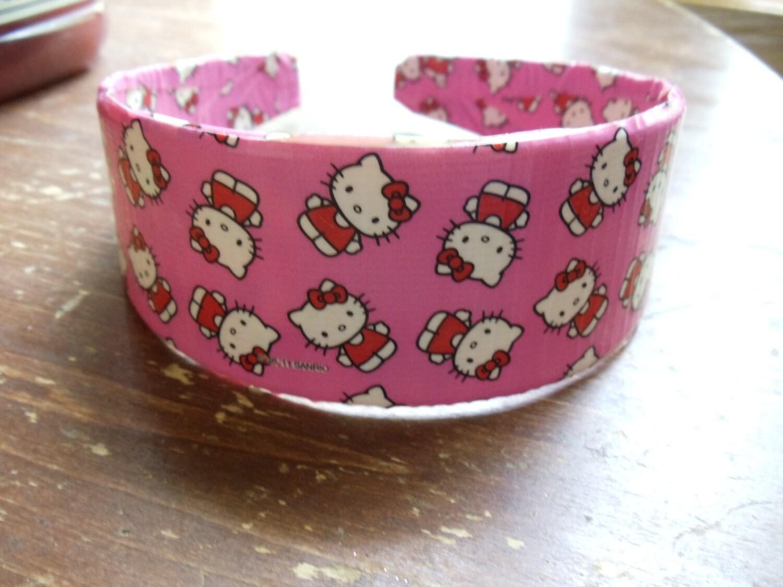 pink hello kitty duct tape headband