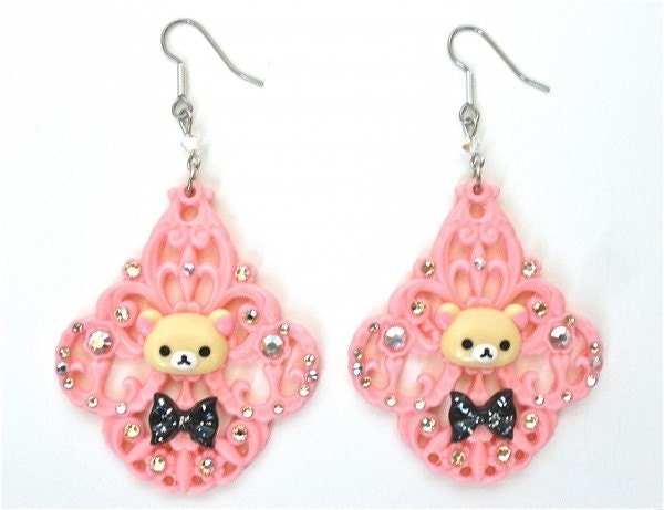 Korilakkuma Rilakkuma Swarovski Chandelier Earrings