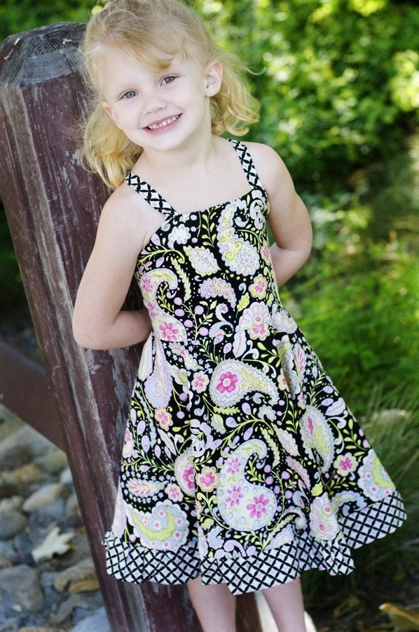 NEW The Twirly Dress (Size 1 to 7) Sewing E-Pattern and Tutorial