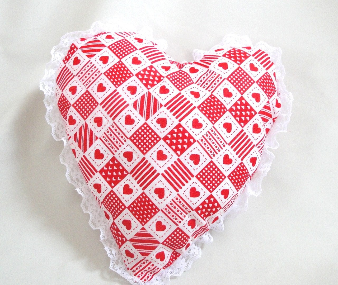 Valentine Heart with lace red hearts, Valentine gift, love