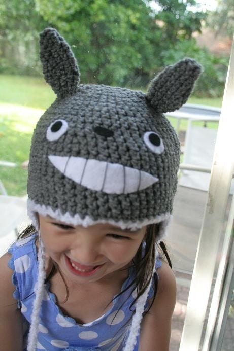 Crochet Pattern Totoro Hat : Crochet Totoro Hat 12 months 2T by AmiAmigos on Etsy