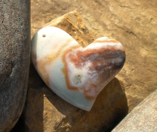 Take Another Little Piece of My Heart ... Amazonite ... focal bead