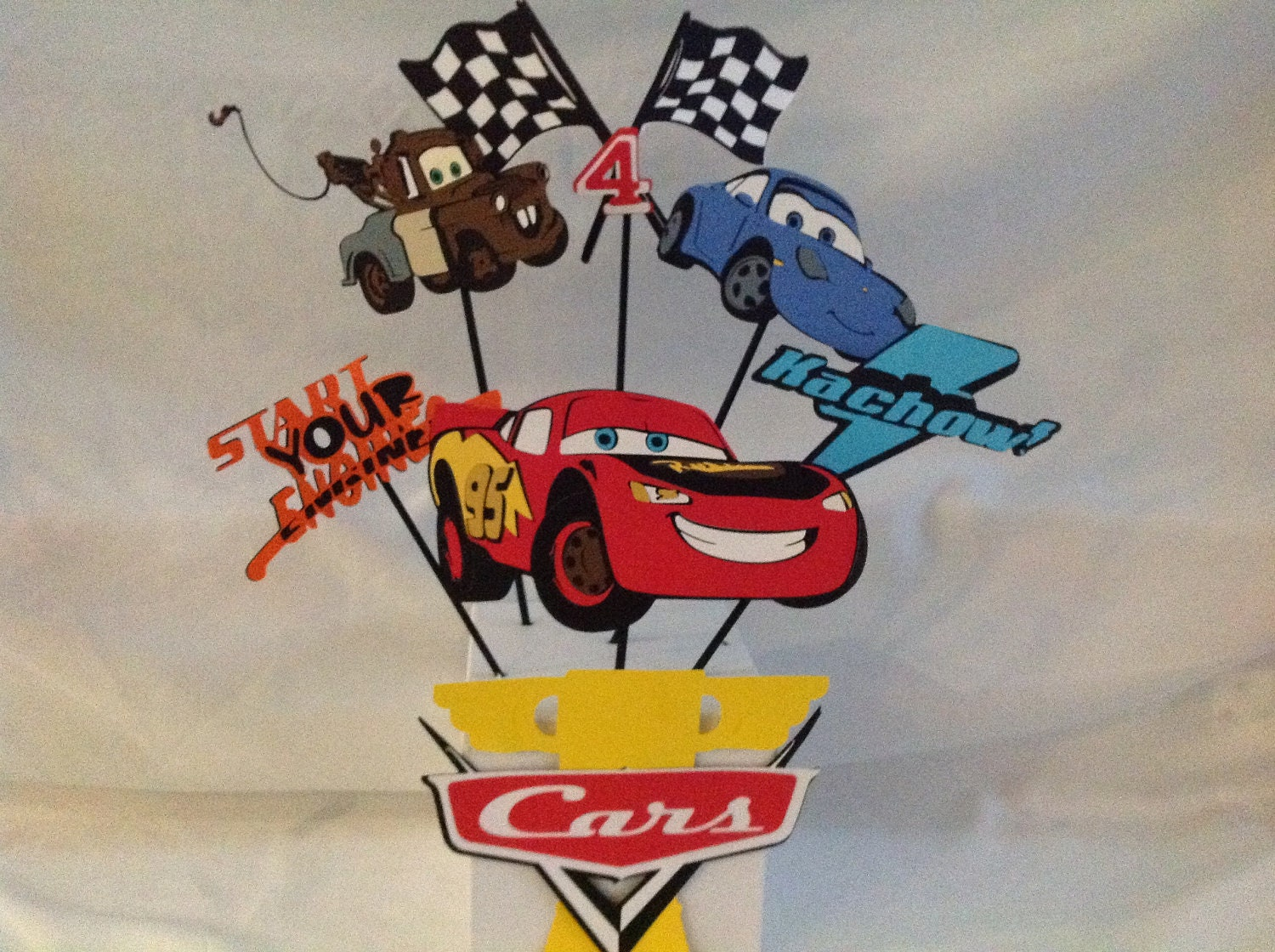 Items similar to cars party centerpiece on etsy