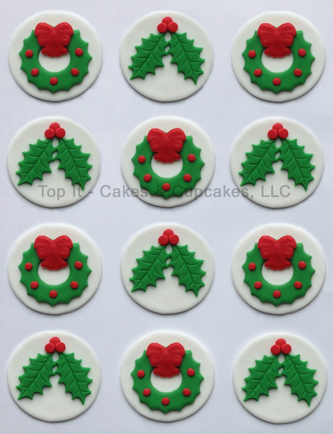 Holly Cake Toppers