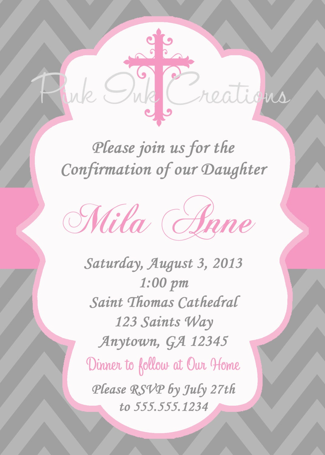 Free Printable Confirmation Invitations