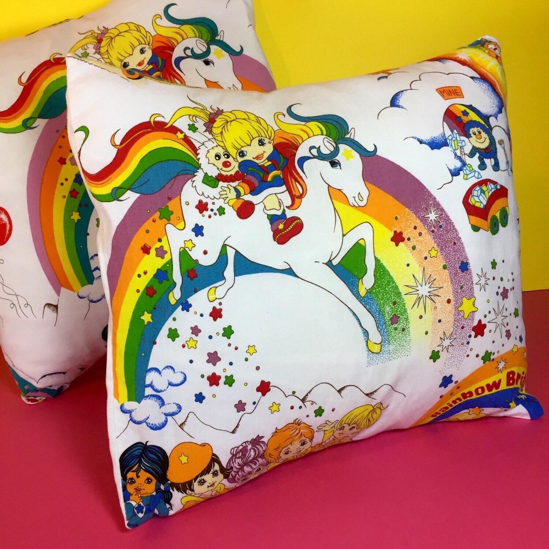 Rainbow Brite  Rainbow Brite Cushions  Vintage Material  Handmade Cushions  1980s  Vintage Toys  80s Kids