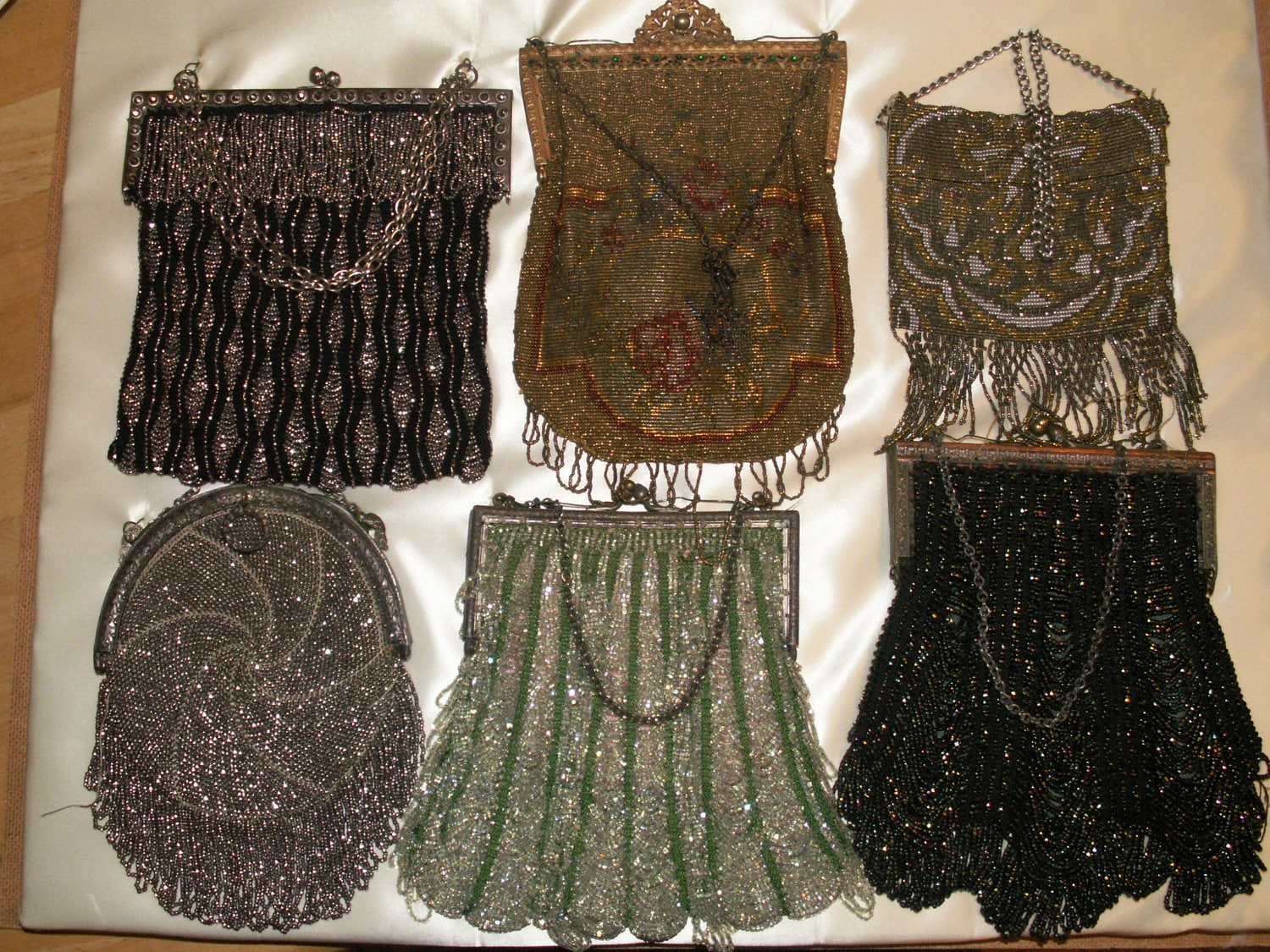 antique beaded purse collection mounted and by babybantiques