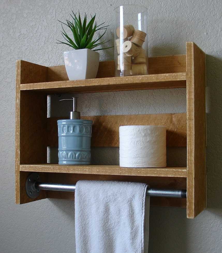 Items Similar To Simply Rustic Small 2 Tier Bathroom Wall