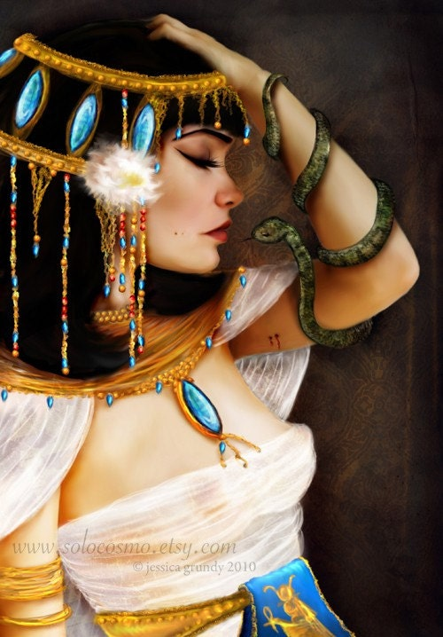 Cleopatra and the Serpent 5 x 7 Lustre Print