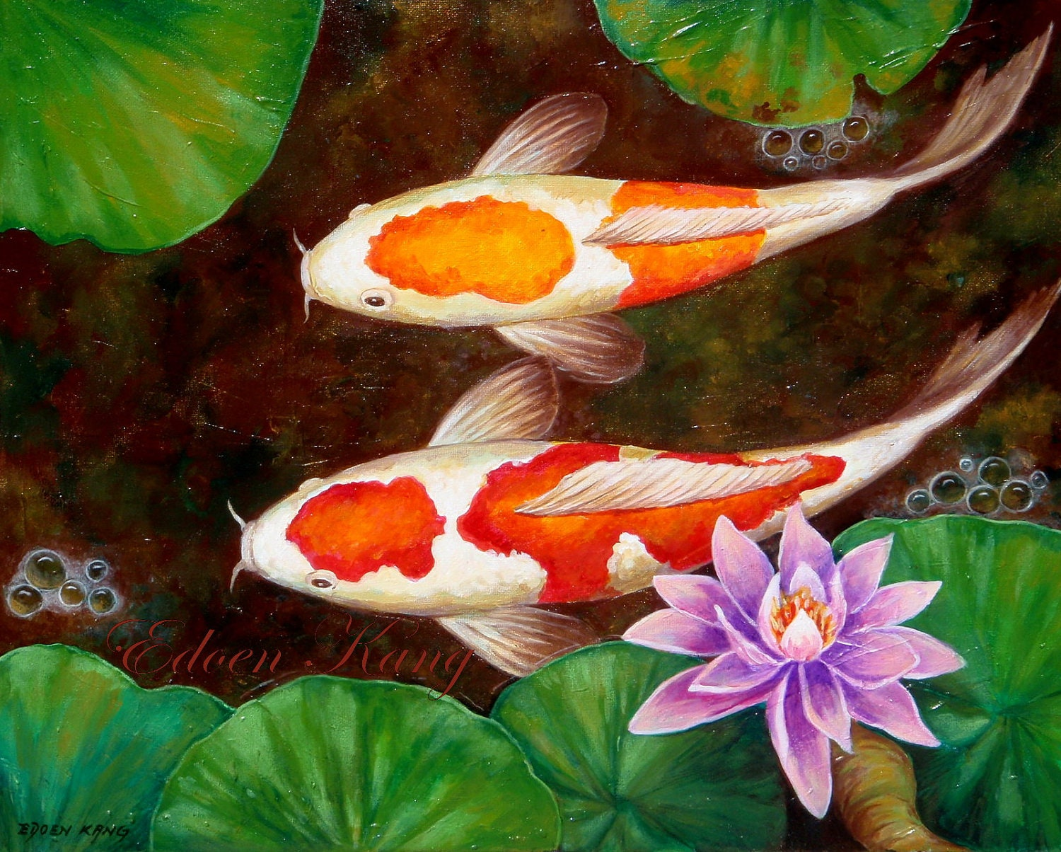 Unavailable listing on etsy for Simple koi pond