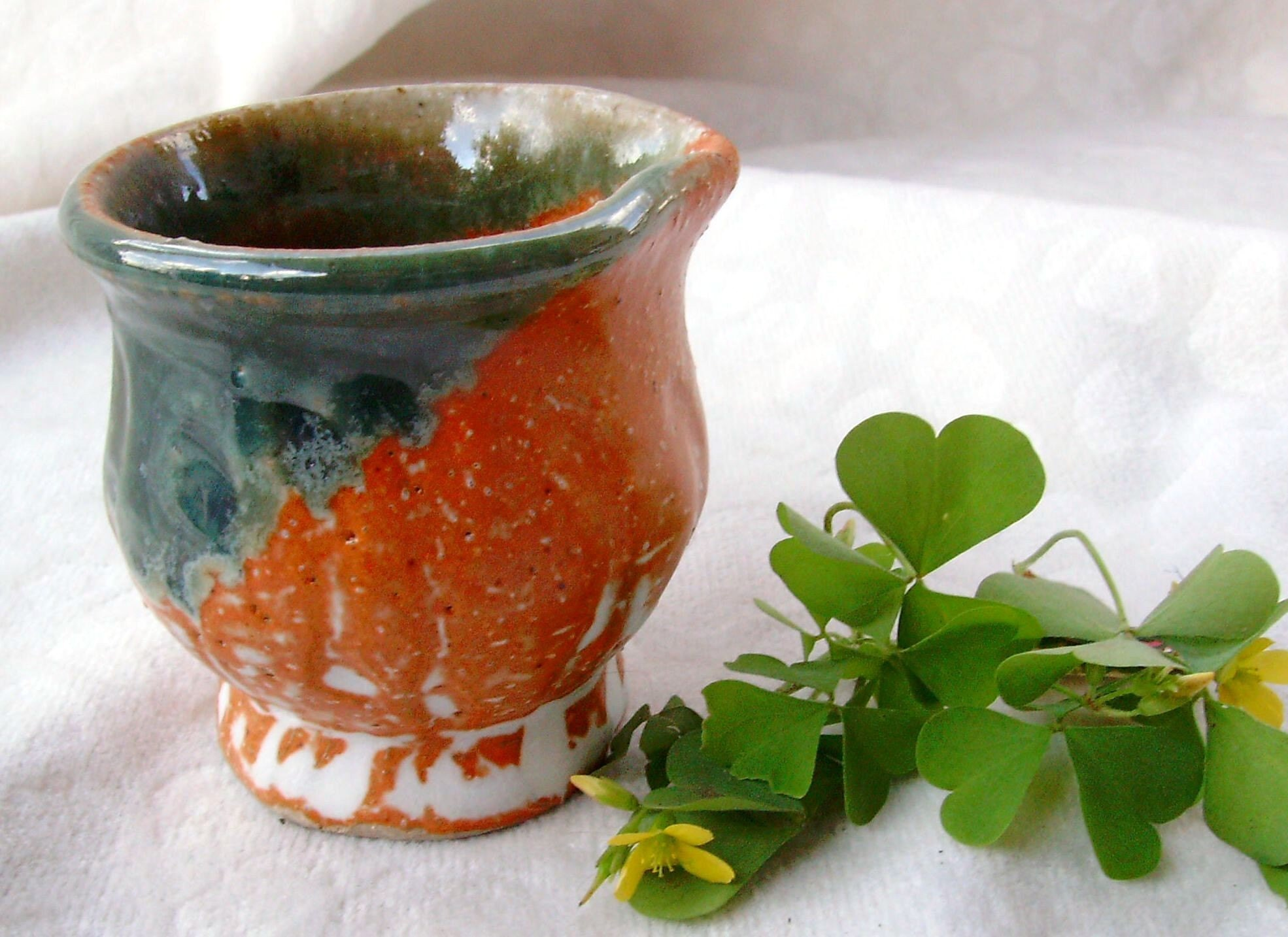 Raindrop Pot - Green and Spice Pourer