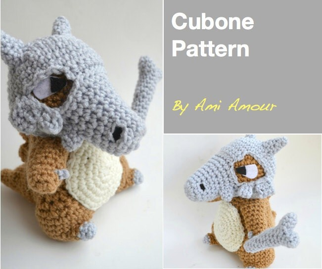 Cubone amigurumi pattern Pokemon crochet by amiamour on Etsy