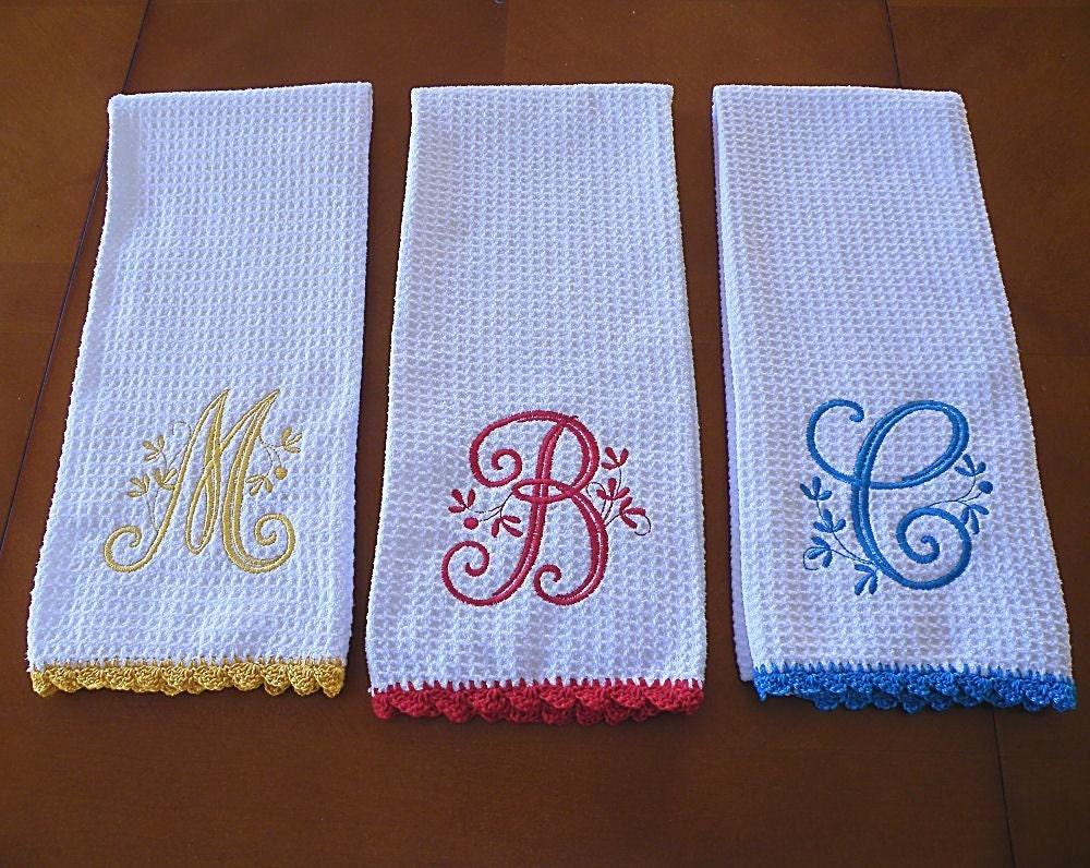 Kitchen Monogrammed Towel Kitchen Design Photos