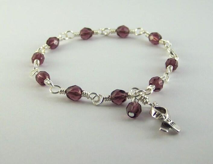 lupus awareness bracelet by hopefaithandbeads on etsy