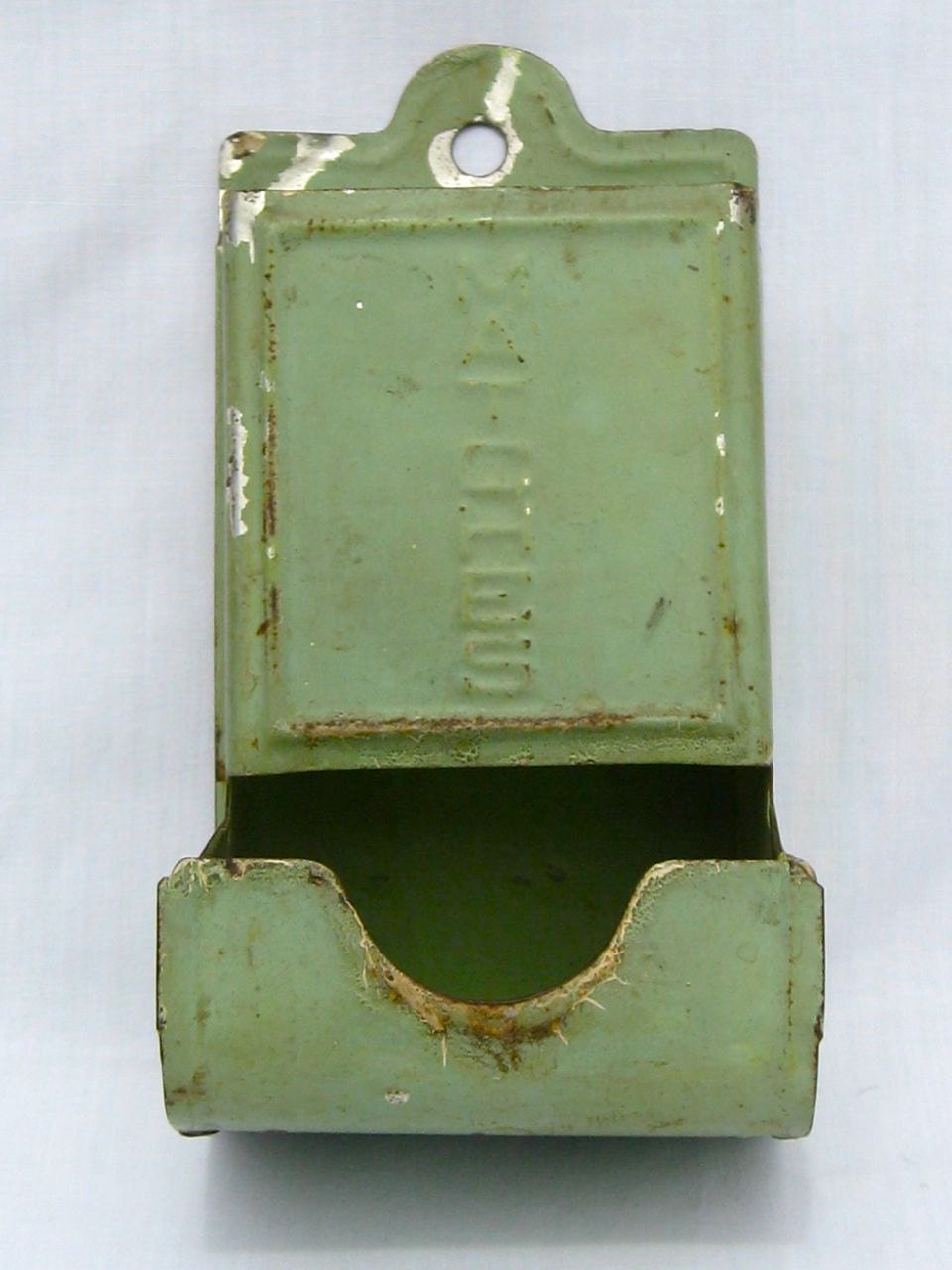 1920s-1930's Depression Green Wall Mount Match Box Holder