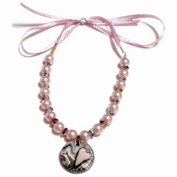 Heart Charm Pendant Bracelet