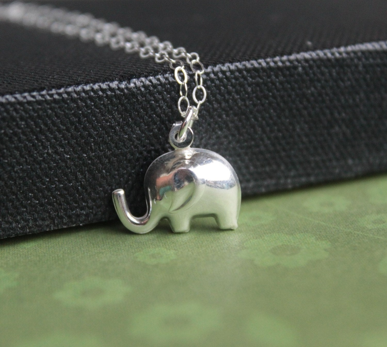 Strength and Luck Elephant sterling silver necklace