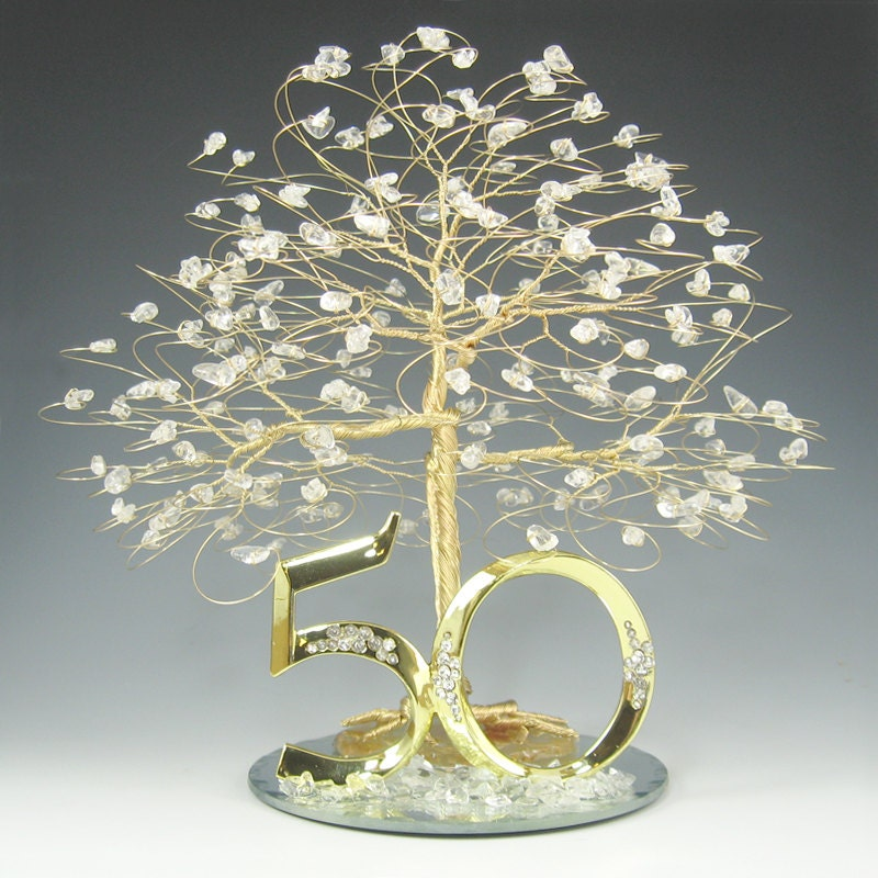 Images Of 50th Wedding Anniversary Gifts : 50th Anniversary Gift Cake Topper Decoration Birthday by byapryl