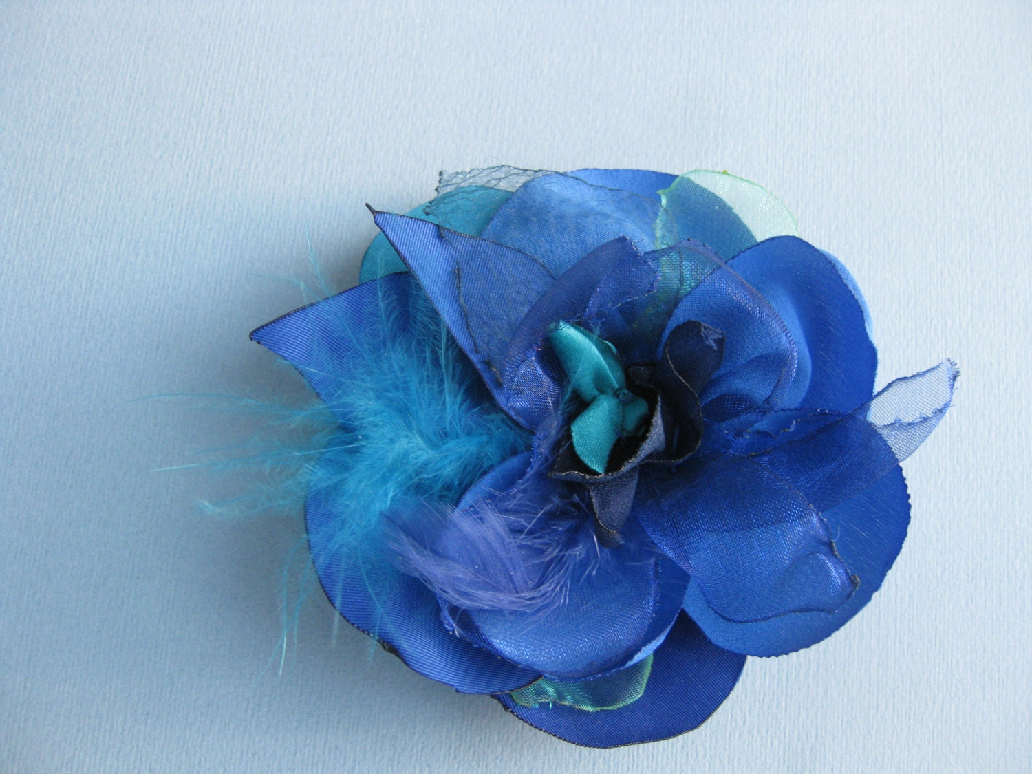 Fabric Flower in Blue French Ultramarine 10cm