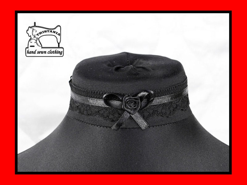 gothic cyber goth queen of darkness choker collar necklace necktie cosplay lolita victorian renaissance steampunk corset japan style  0480