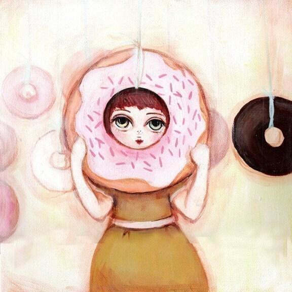Doughnut Girl Print
