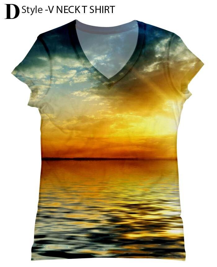 il paesaggio tramonto donna con palme stampa top, maglietta e tank(206) xxs - più dimensioni