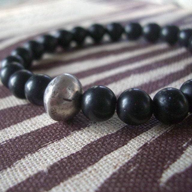 beaded bracelets for men. MEN#39;S MALA BEAD BRACELET ONYX