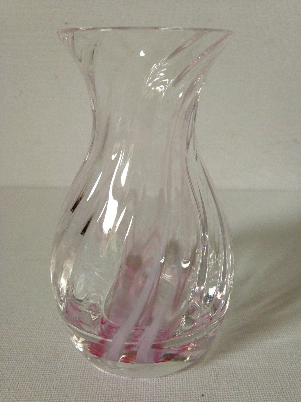 Small Glass Vase Caithness Glass Caithness Pink Vase Glass Vase Flower Vase Made in Scotland Scottish Gift PinkVaseHome Decor.