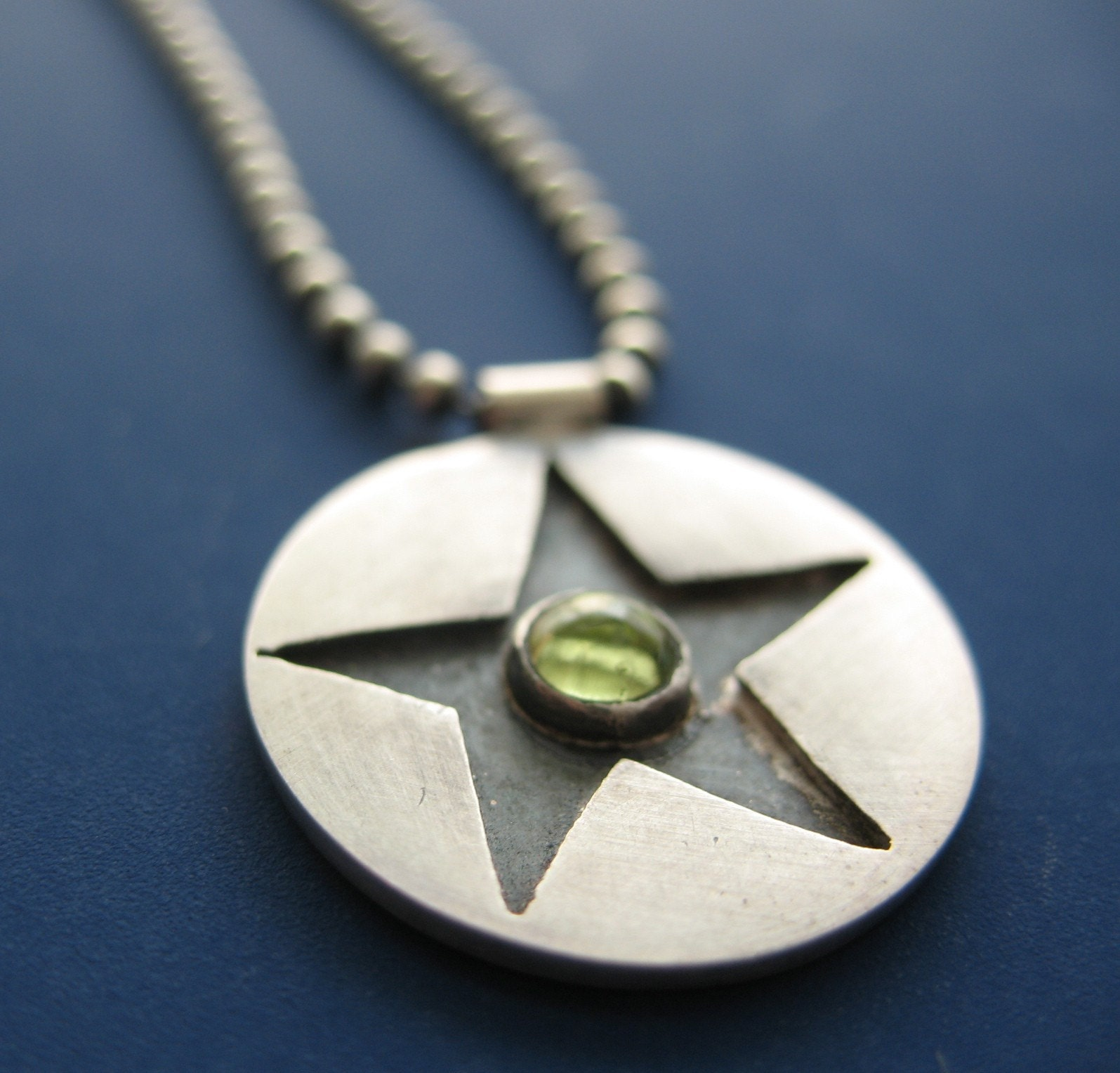 Starburst Pendant with Peridot