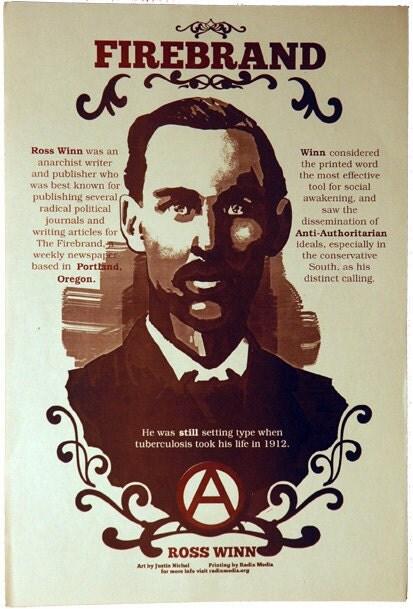 Ross Winn Offset Poster Firebrand Portland Anarchist Publisher