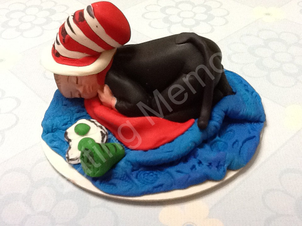 Edible Cake Decorations Boy : Cat and Hat Edible CAKE toppers/Baby boy/girl cake by anafeke