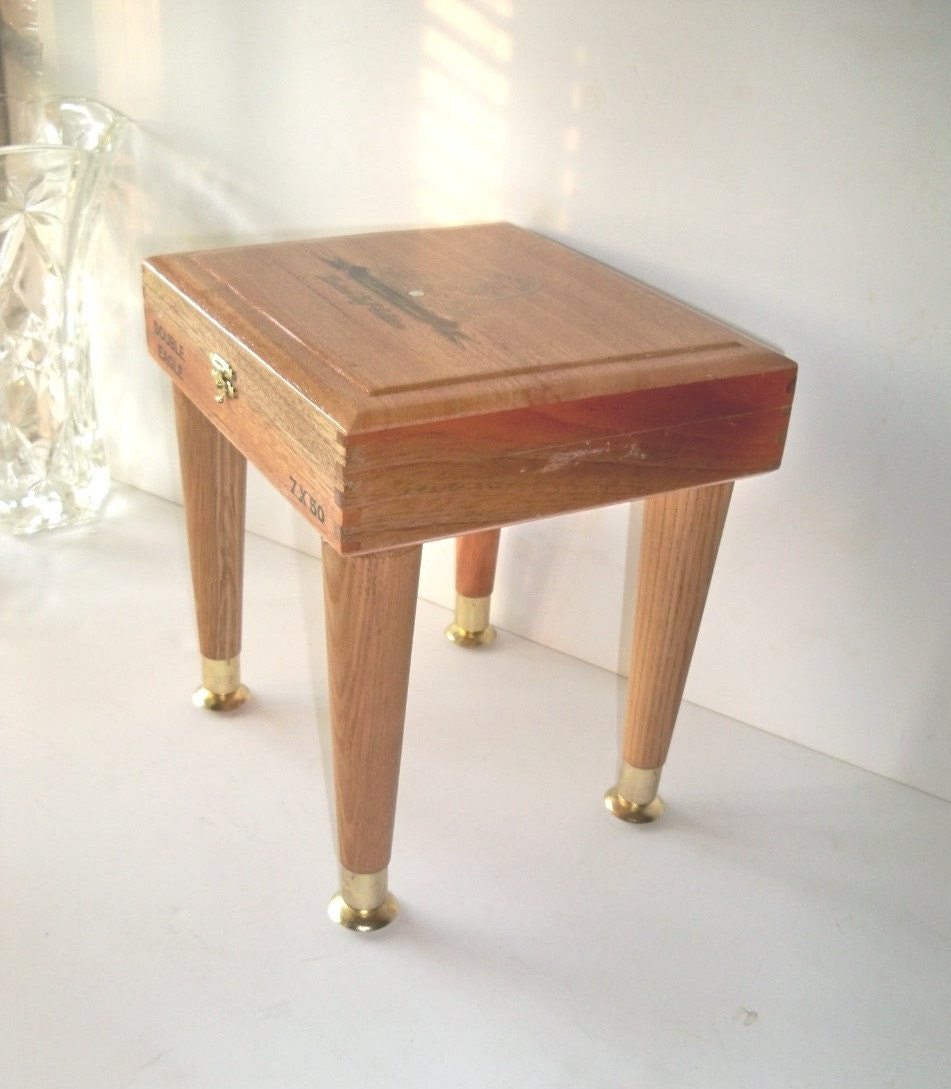 Shipping Crate TABLE La Tradicion Box with Wooden Legs Upcycled and Reclaimed
