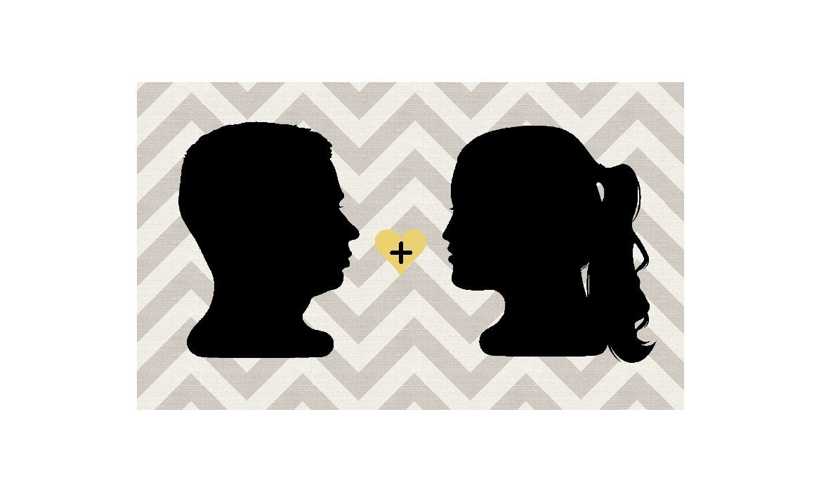 Custom Couple Silhouette Portrait