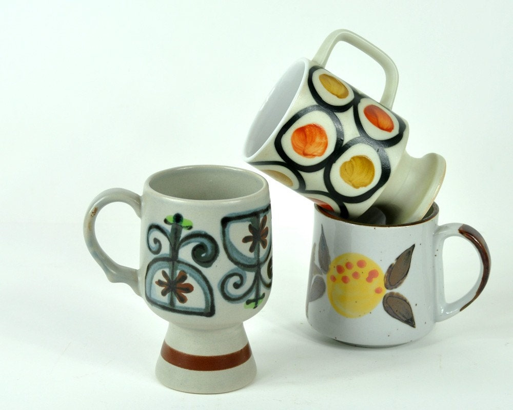 Collection of Vintage Coffee Mugs
