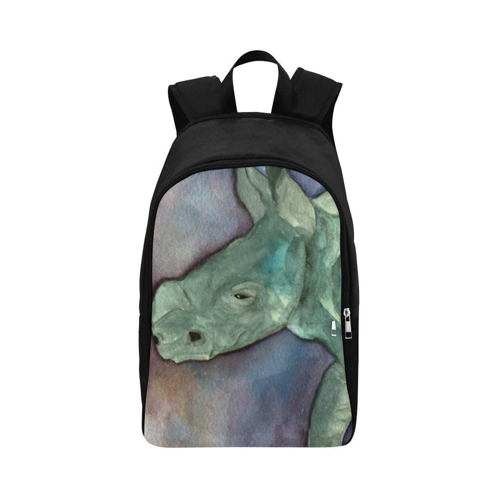 Backpack Rucksack School Bag Work Bag Black Rhino Art College Backpack Travel Bag Shoulder Bag