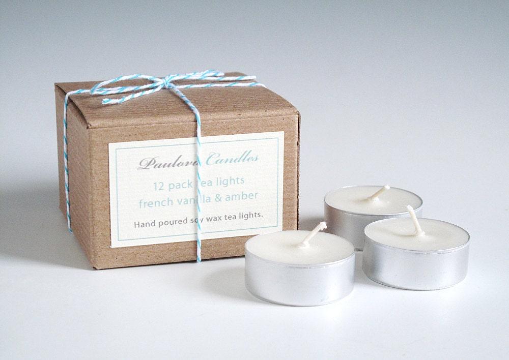 12 pack scented tea lights. - paulova
