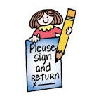 Please sign and return apple teach er stamp classroom supplies