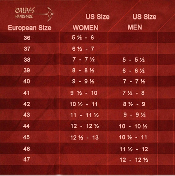 How To Measure Your Feet, Shoe Size Conversion Table