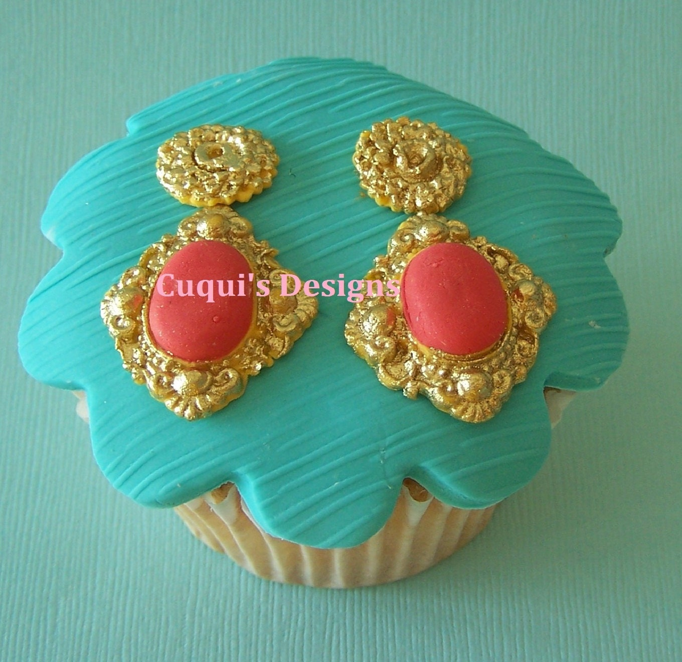 Cake Images With Gems : Edible Cupcake Topper Fondant Gems JEWEL Cake by ...