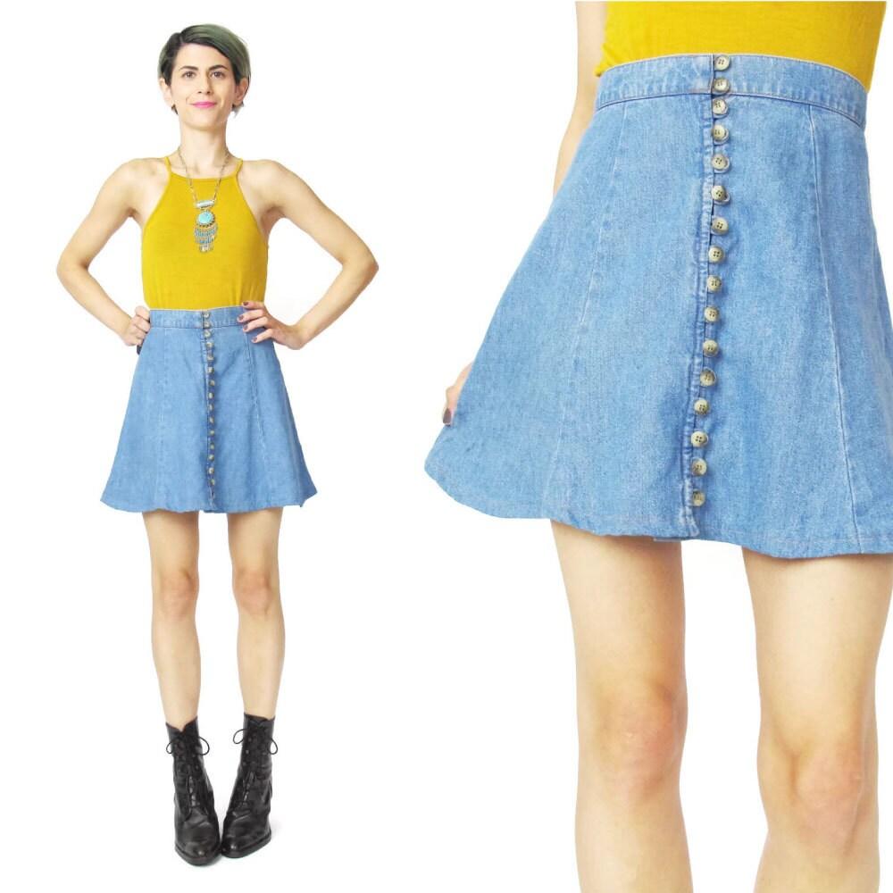 denim find skirt vintage