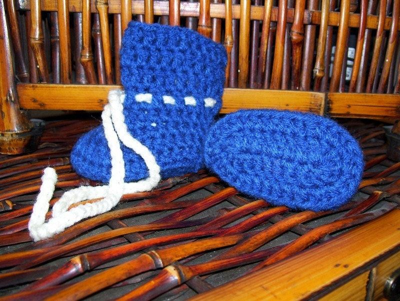 Blue baby Boots 6-12 mo's