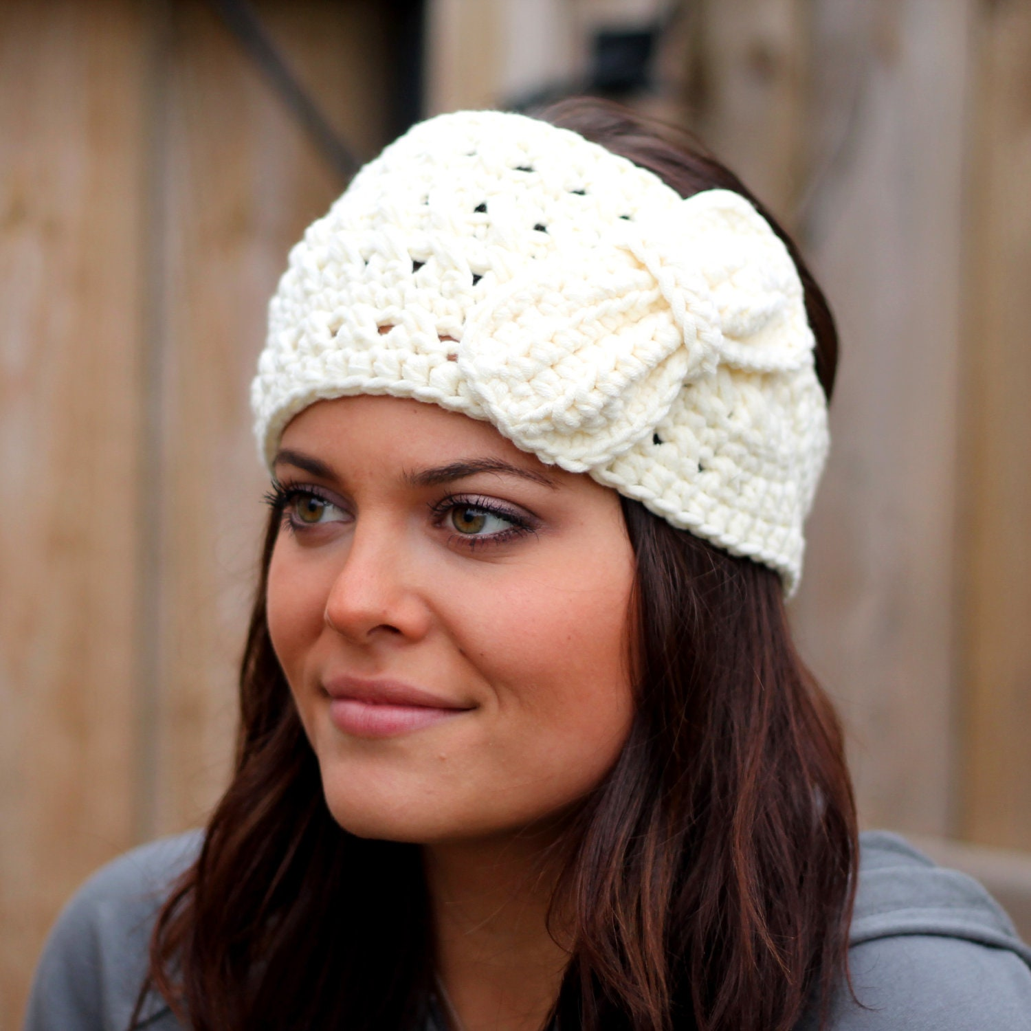 Sweet and Soft Woman's Crocheted Earwarmer
