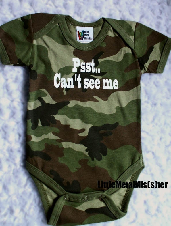 camo funny toddler tshirt psst cant see by