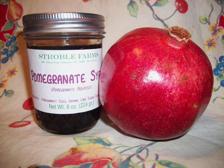 Pomegranate Syrup (Pomegranate Molasses) - 1/2 pt. jar - Stroble Farms