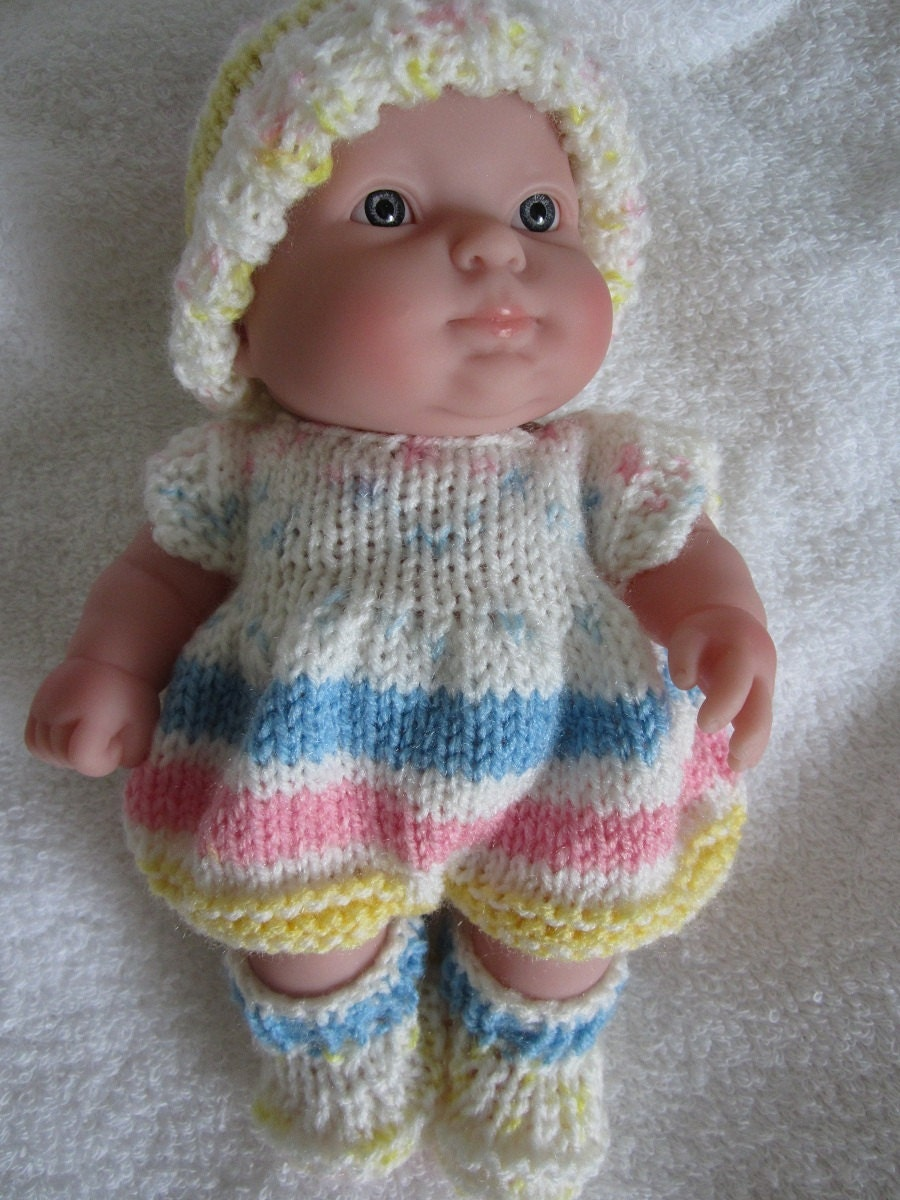 Knit Doll Clothes Berenguer Baby Doll Knit Romper by WeGirls