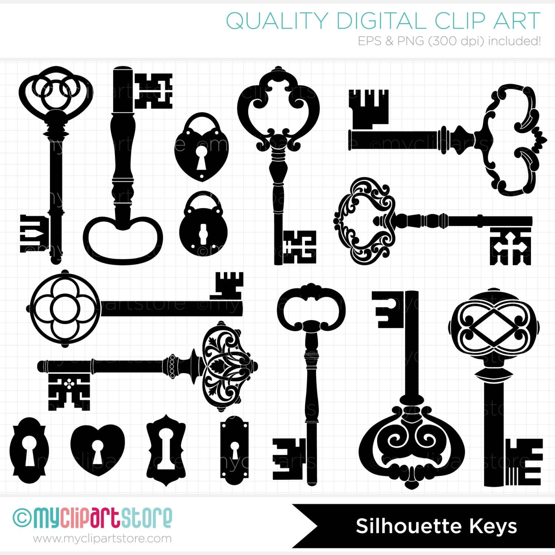 Antique Key Clip Art Skeleton Keys Clip Art